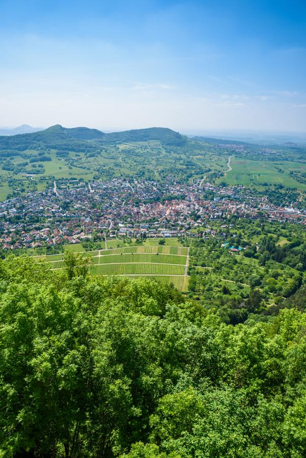 Landscape at Neuffen, Swabian Alb, Germany royalty free stock image