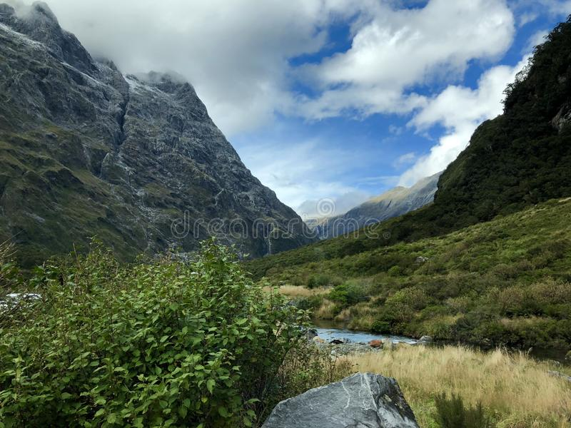 Landscape New Zealand Milford Sound Mountain te anau stock images