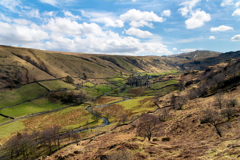 Landscape of Newlands Beck Valley -Lake District royalty free stock images