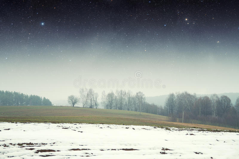 Landscape at night. royalty free stock image