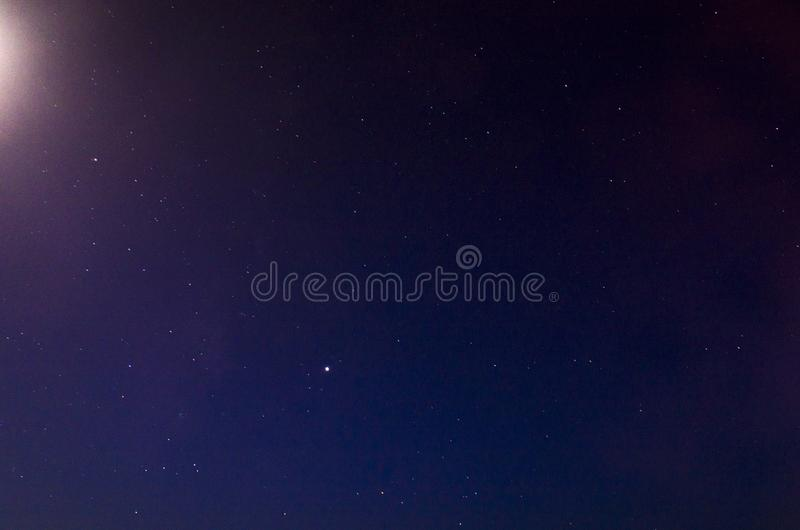 Landscape of the night sky royalty free stock images