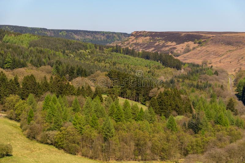 Landscape in the North York Moors National Park, UK royalty free stock image
