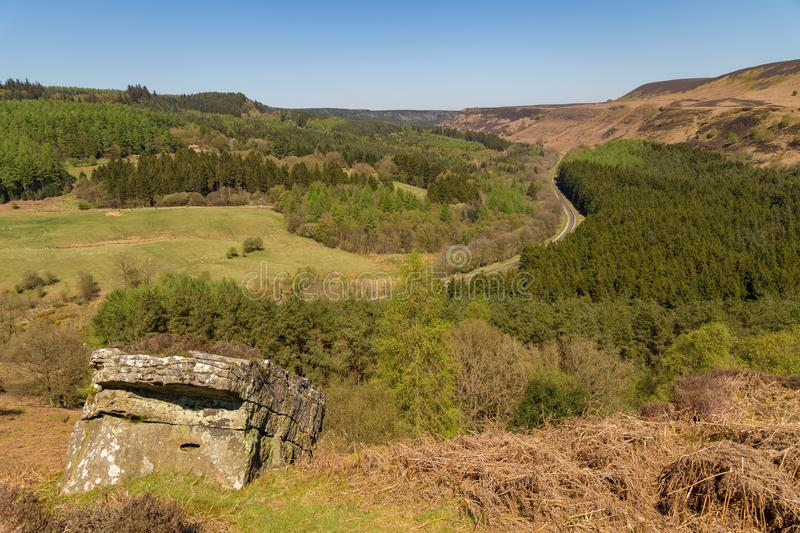 Landscape in the North York Moors National Park, UK stock photography