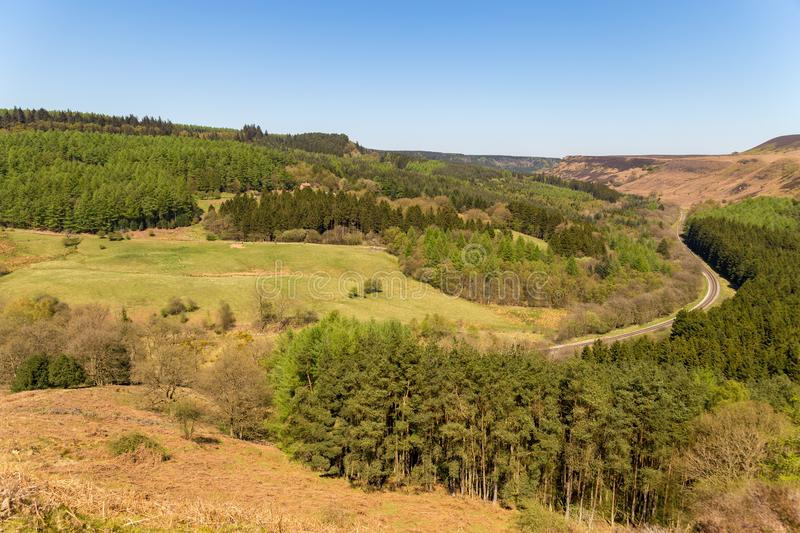 Landscape in the North York Moors National Park, UK stock photos