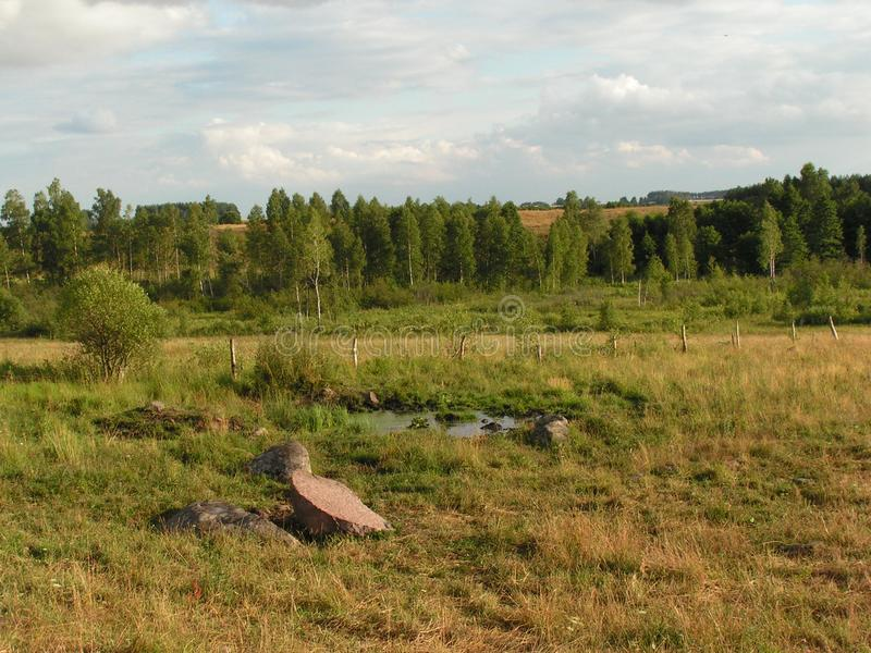 Landscape in northern Poland stock photography