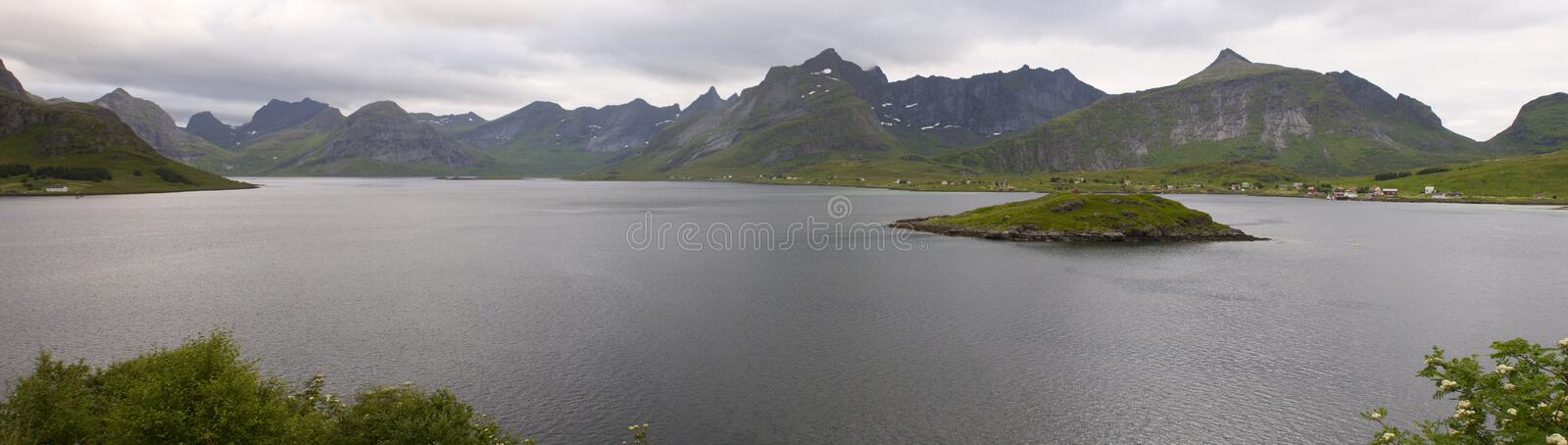 Landscape of Norwegian fjord. Panorama royalty free stock images