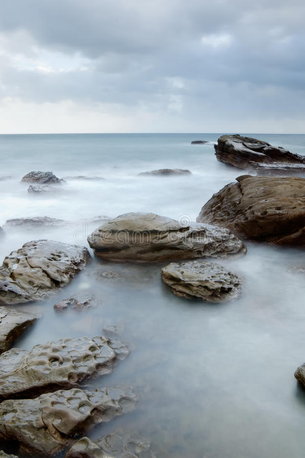 Free Landscape Of Rock Coast And Beautiful Cloud Royalty Free Stock Photo - 10274325