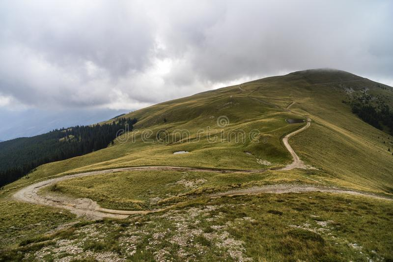 Landscape with offroad on the mountain. Somewhere in Romania stock image