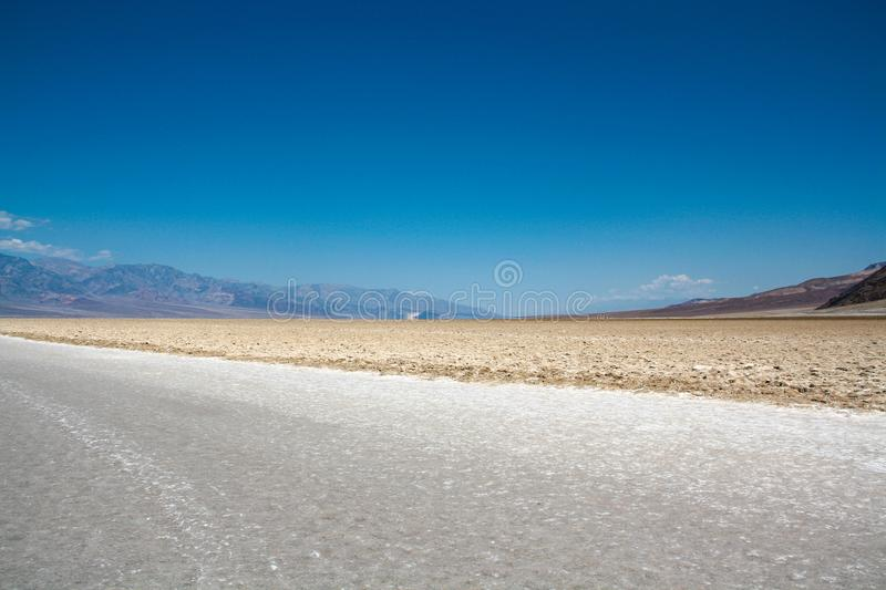 Salt Plains at Badwater Basin, Death Valley, Nevada stock image
