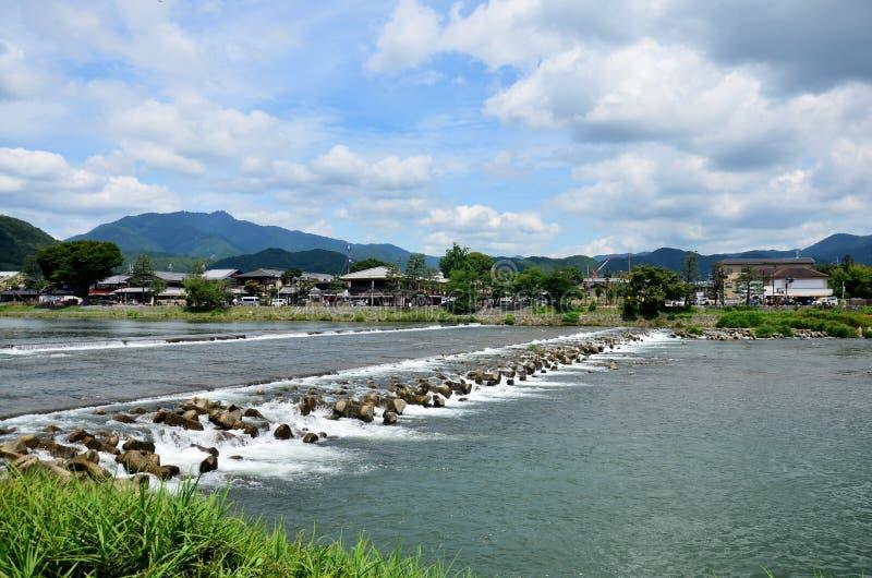 Landscape of Oi River stock photo