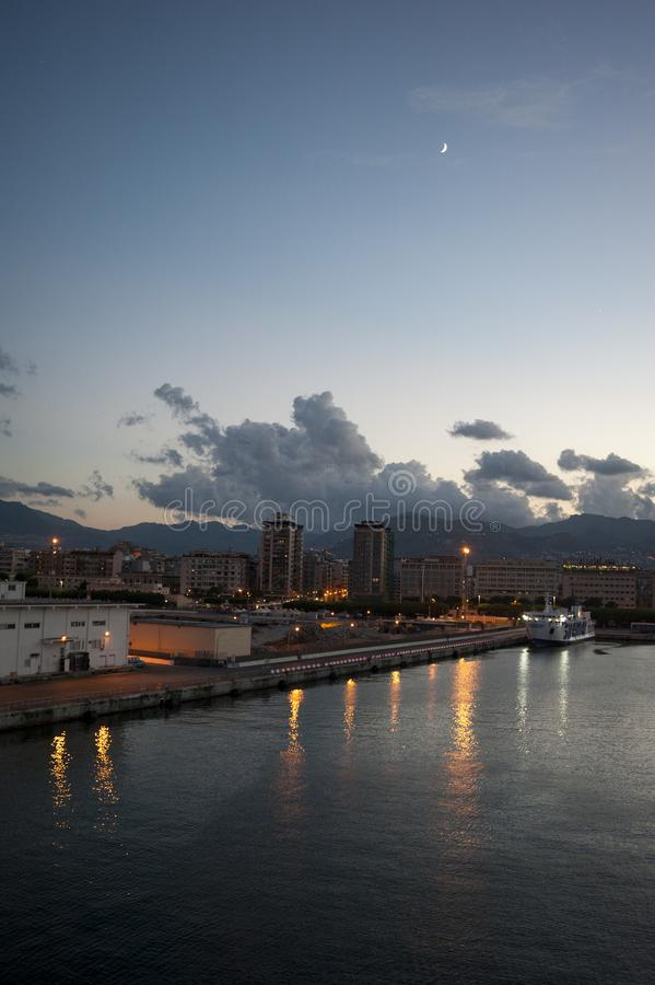 View Palermo port royalty free stock image