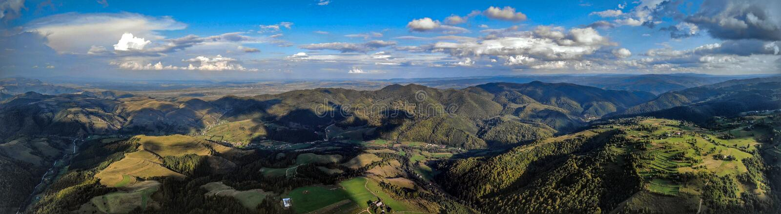 Landscape panorama from drone royalty free stock images