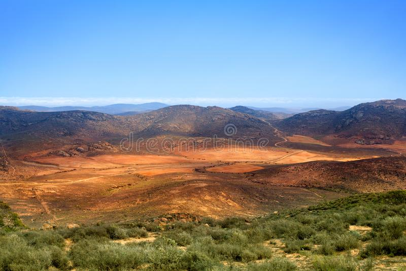 Landscape panorama mountain valley, Drakensberg mountains, wild South Africa travel royalty free stock photos