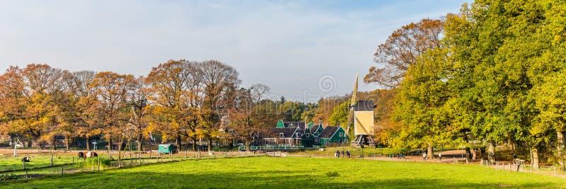 Panorama Open air museum Arnhem royalty free stock photo