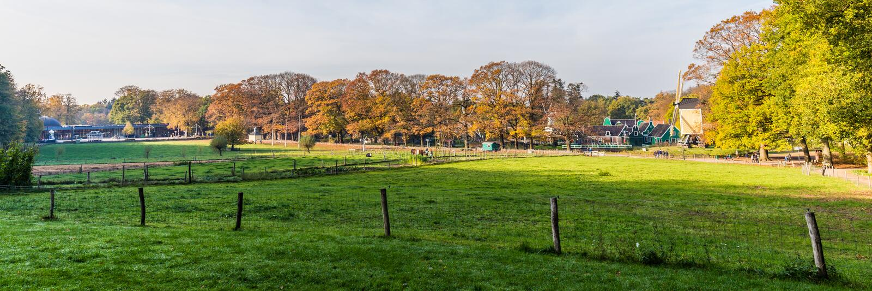 Panorama Open air museum Arnhem stock photo