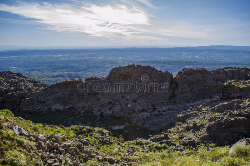 Landscape panoramic view royalty free stock image