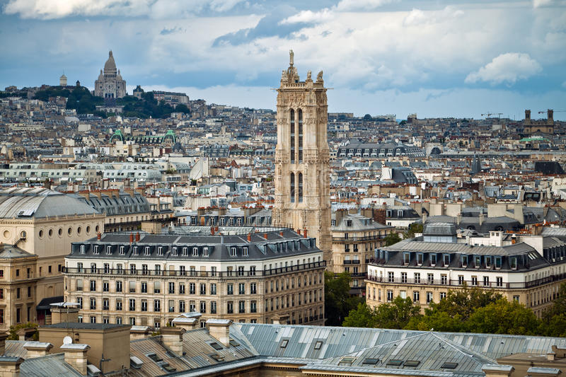Landscape of Paris royalty free stock photos