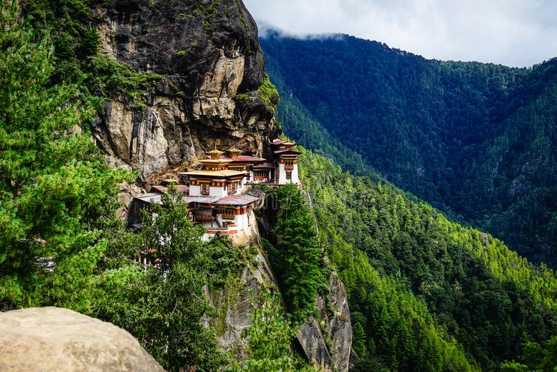 Paro Taktsang Tiger Nest in Bhutan stock photography