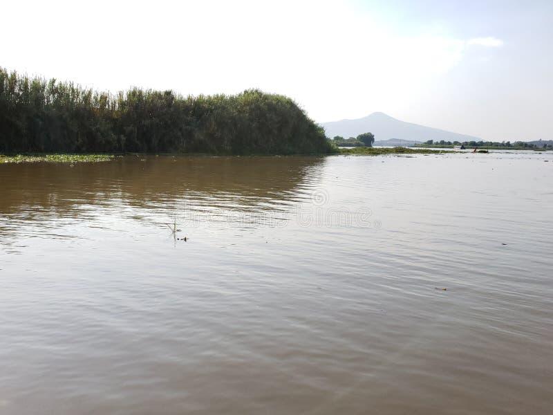 Landscape in Patzcuaro Lake, Michoacan, travel and tourism in Mexico. Landscape patzcuaro lake michoacan  travel tourism mexico   calm water reflection beautiful stock image