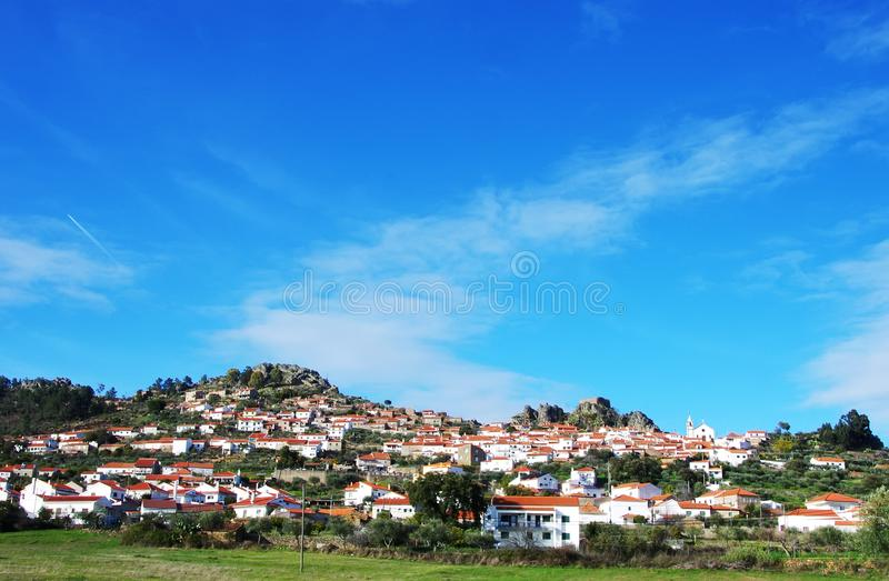 Landscape of Penha Garcia village royalty free stock photo