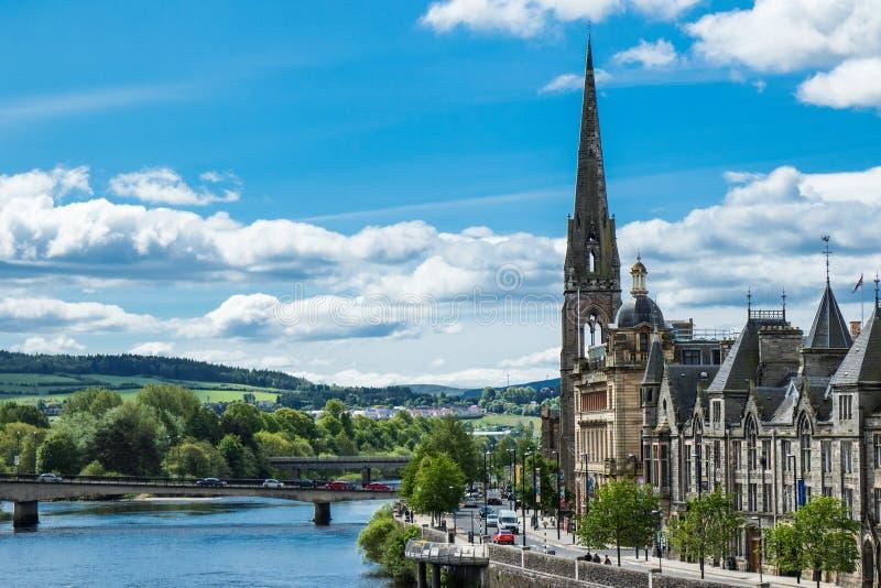Landscape of Perth Scotland stock images