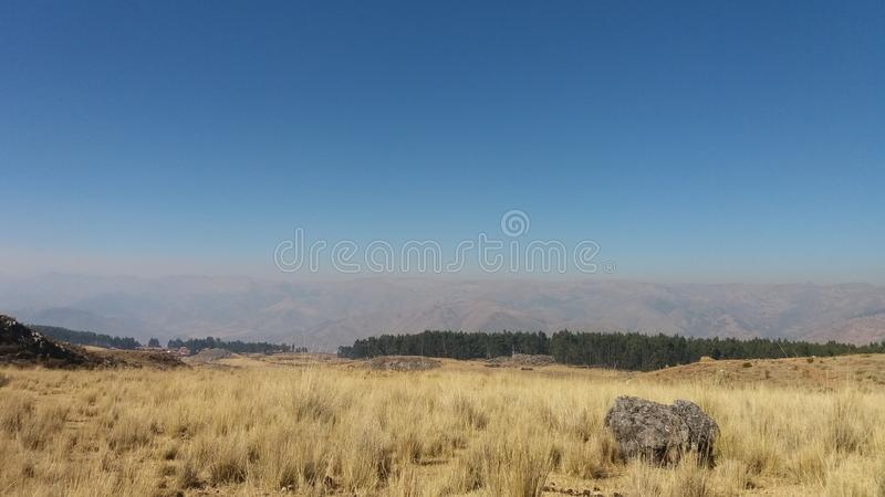 landscape of the Peruvian Andes stock images