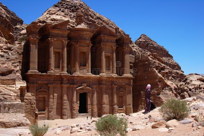 Landscape at Petra, Jordan royalty free stock photos
