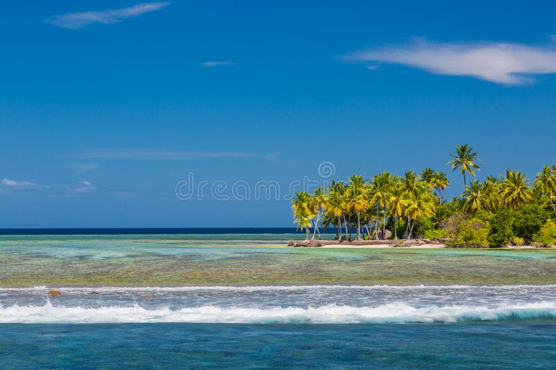 Landscape photo of beautiful paradise Maldives tropical beach on island. Summer and travel vacation concept royalty free stock image
