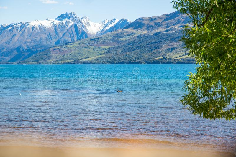 Landscape Photo of Body of Water With Mountain As Background stock photo