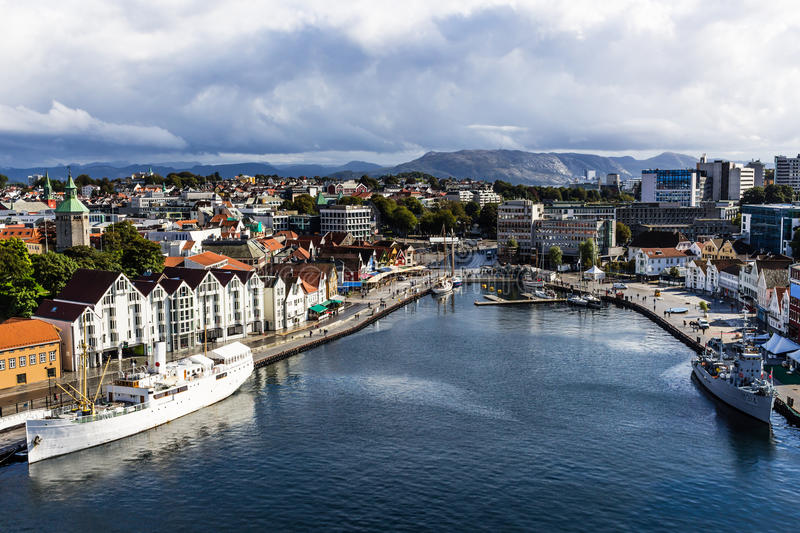 A landscape photo of the city of Stavanger in Norway. Picture taken September 2016. stock photo