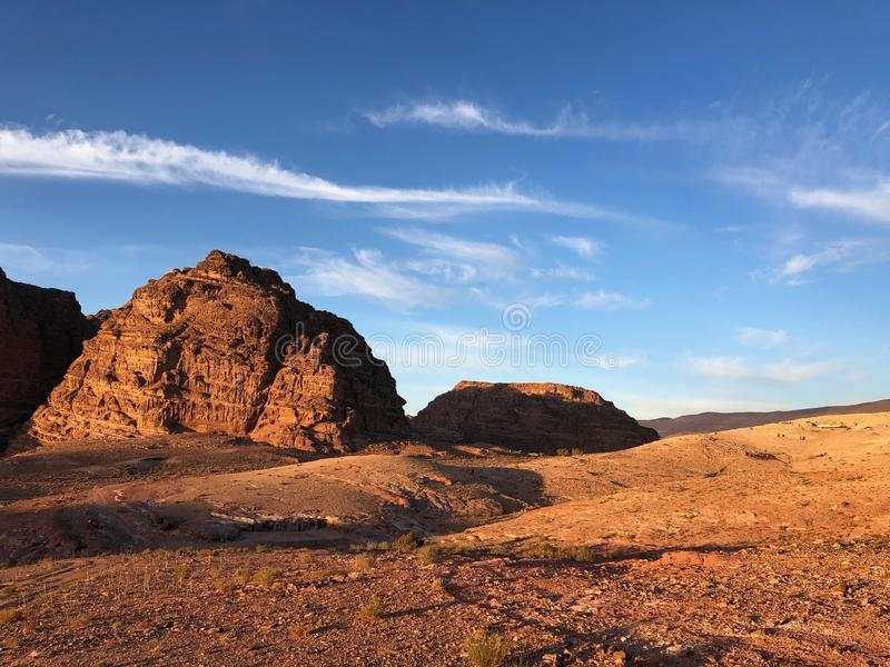 Landscape Photo of Desert Rock Formation stock image
