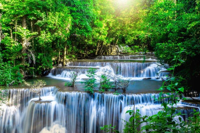 Landscape photo, Huay Mae Kamin Waterfall,Amazing waterfall in wonderful autumn forest, beautiful waterfall in rainforest at Kanch. Anaburi province, Thailand stock photos