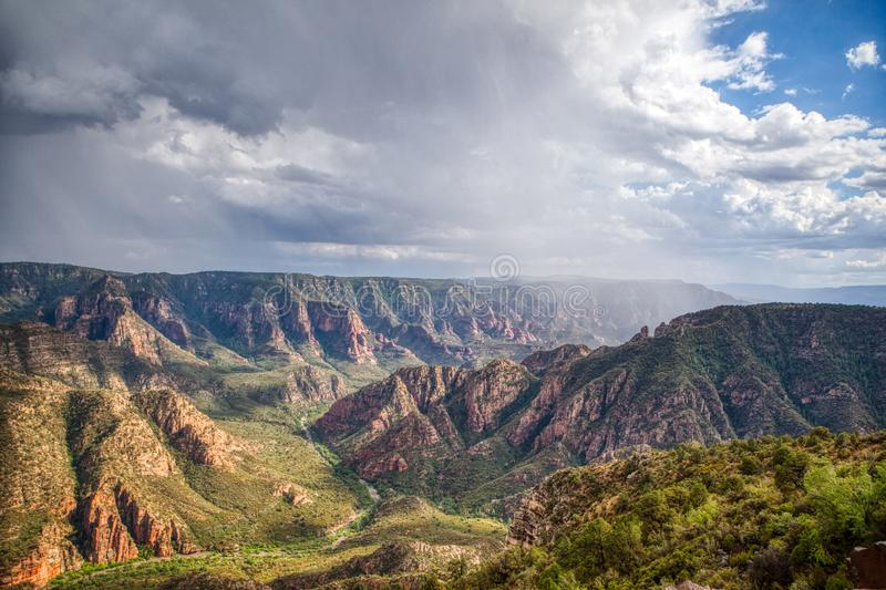 North Sycamore Canyon Williams Arizona known as The Little Grand Canyon. stock photo