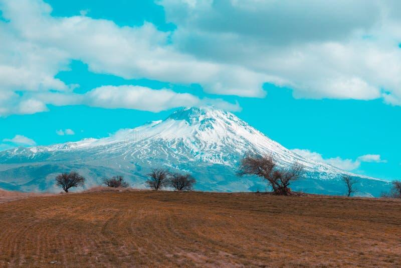 Landscape Photo of Volcano royalty free stock photos