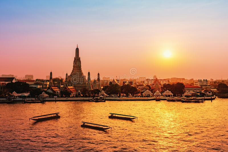 Wat Arun is a Buddhist temple in Bangkok, Thailand stock image