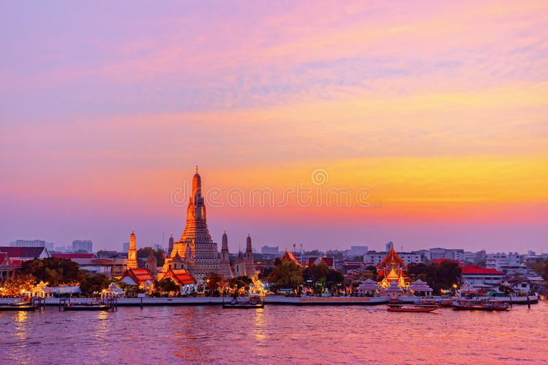 Wat Arun is a Buddhist temple in Bangkok, Thailand royalty free stock image