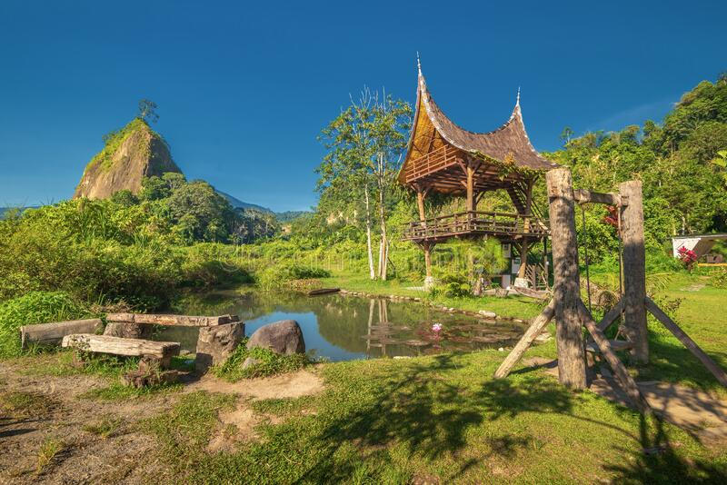 Landscape Photo Of Wonderful Panorama in Padang Indonesia. Landscape Photos Of Wonderful Panorama in Padang Indonesia stock images