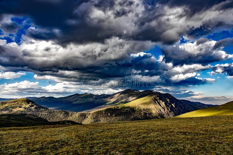 Landscape Photograph of Green Brown Hills at Daytime stock images