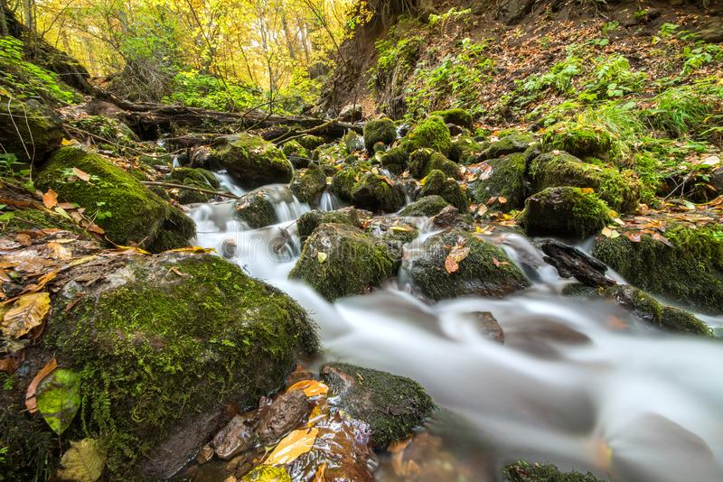 Landscape photograph of yedigoller waterfalls. royalty free stock images