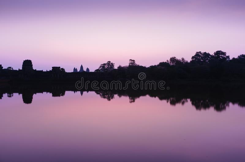 Landscape Photography Of Silhouette Of Trees And Buildings Under Purple And White Sky Free Public Domain Cc0 Image