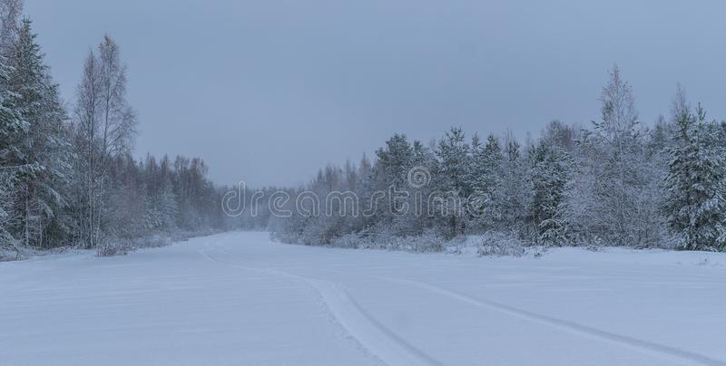 Landscape Photography of Snowfield royalty free stock image