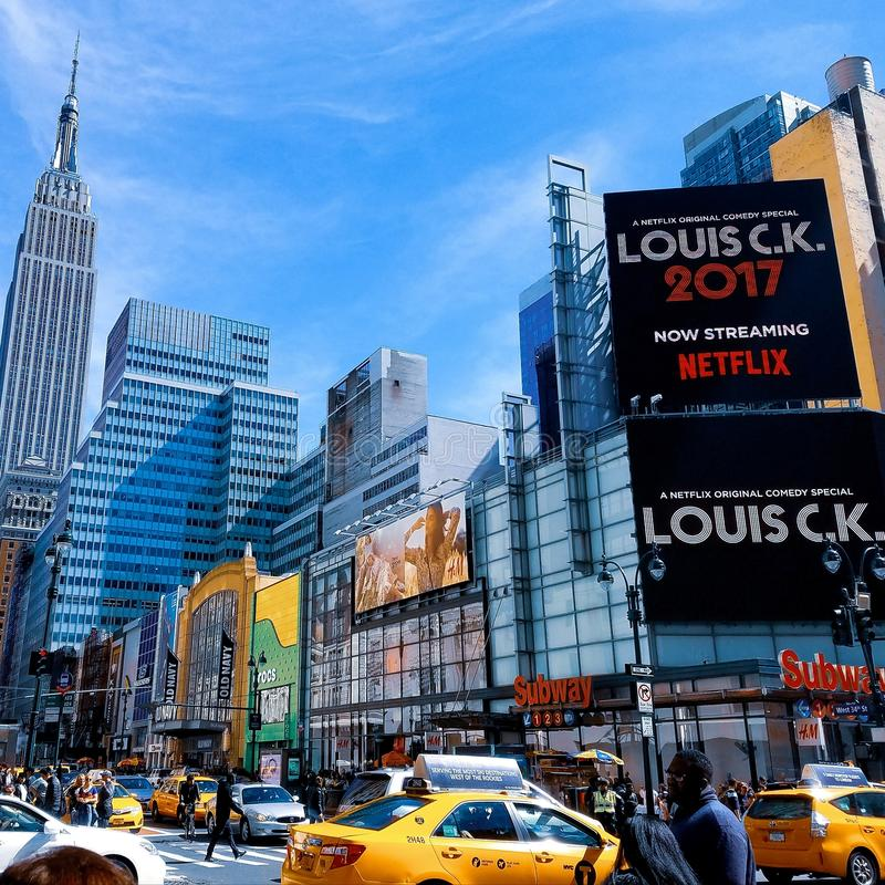 Landscape Photography of Time Square, New York City royalty free stock photography