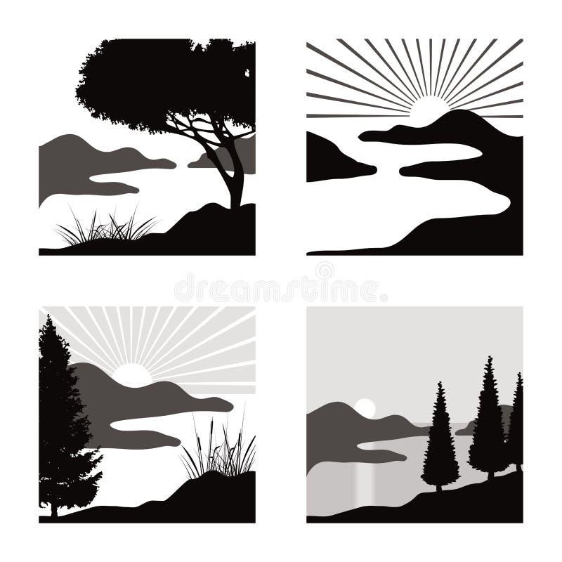 Free Landscape Pictograms Stock Photo - 31602070
