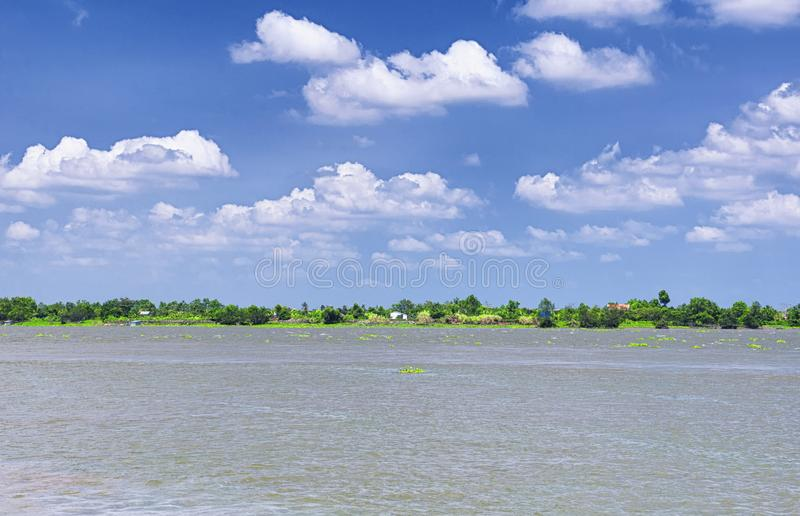 Mekong River Vietnam Southeast Asia royalty free stock images