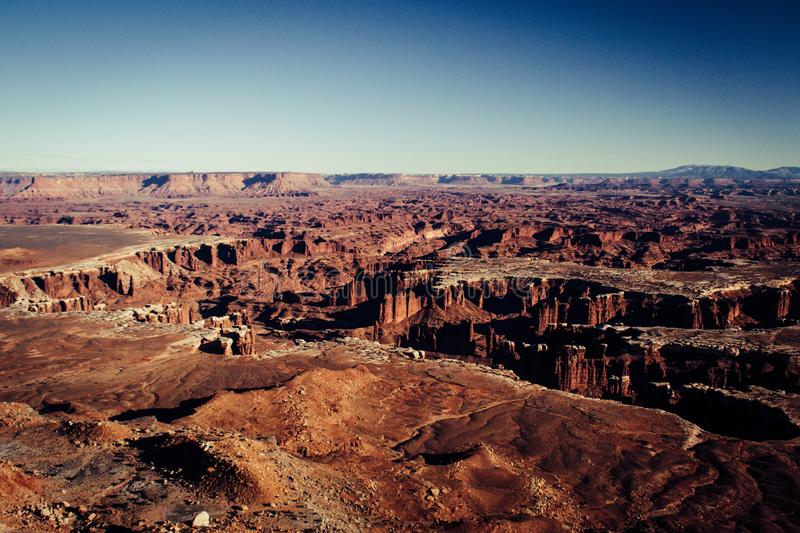 Landscape picture of the canyons of Canyonlands National Park, Utah, United States stock photo