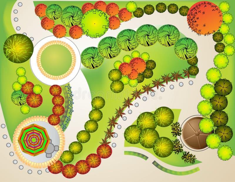 Download Landscape  Plan stock vector. Image of furniture, nature - 19693357