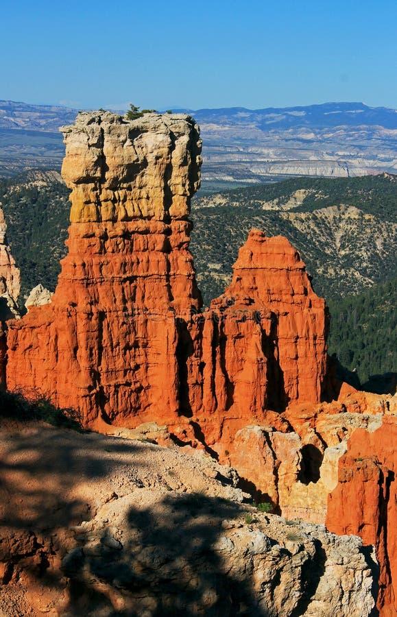 Hoodoo landscape at Ponderosa Canyon view point, Bryce Canyon National Park royalty free stock images