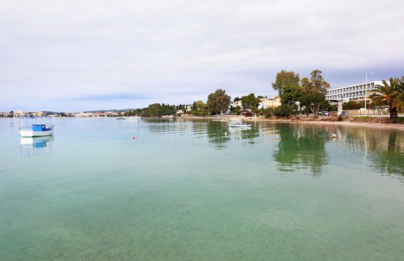 Landscape of Porto Heli Argolis Greece. Greek summer destination royalty free stock image