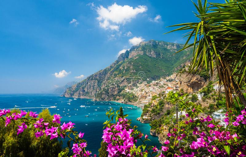 Landscape with Positano royalty free stock photography