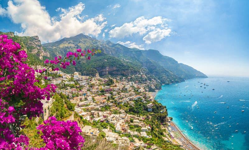 Landscape with Positano stock photos